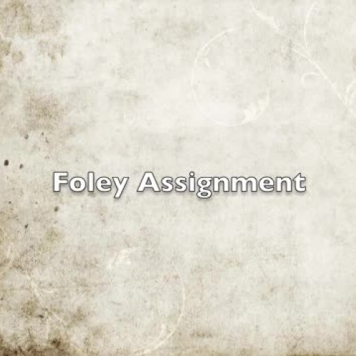 Foley Assignment For Video Audio Post Production