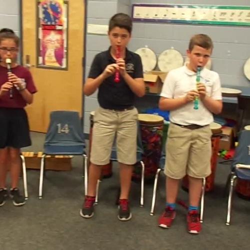 "17-18 Ms. Dunn's 5th grade class ""Way Down South"" by Carol King"
