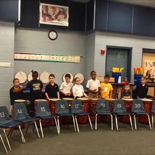 """17-18 Ms. Milton's 1st grade class """"Drip, Drop"""" by Kriske/DeLelles"""