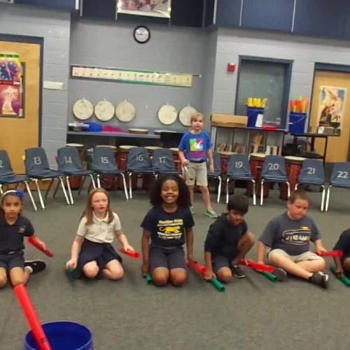 """17-18 Ms. Stewart's 2nd grade class """"Five Little Monkeys"""" by Dupont/Hiller"""