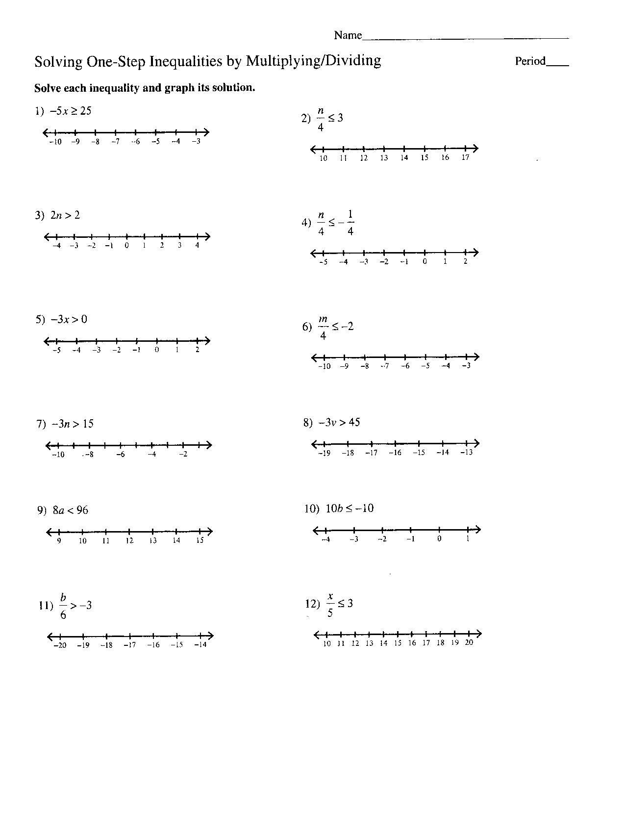 worksheet Rational Inequalities Worksheet algebra problems and worksheets algebraic long division inequalities worksheets
