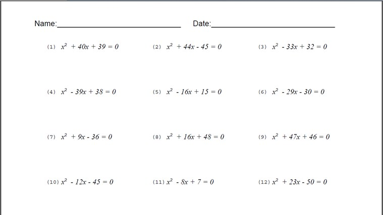 8th Grade Algebra Equations Problems Tessshebaylo