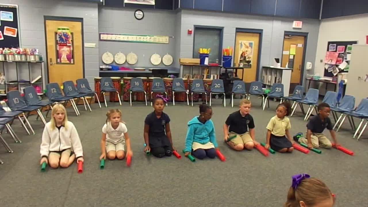 """17-18 Ms. Van Dursen's 2nd grade class """"Five Little Monkeys"""" by Hiller/Dupont"""
