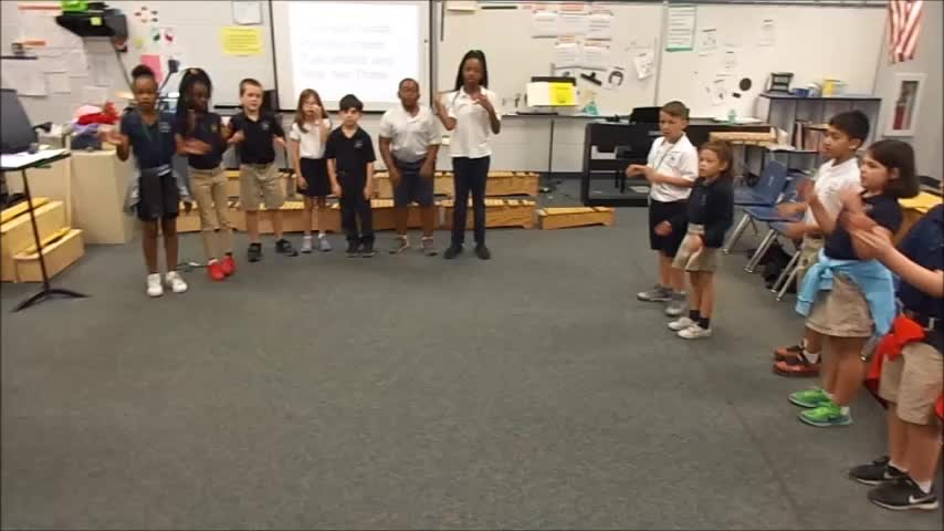 """17-18 Ms. Bates' 2nd grade class """"Clap Your Hands"""" by Dupont/Hiller"""