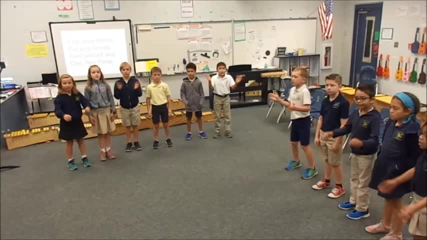 """17-18 Ms. Winne's 2nd grade class """"Clap Your Hands"""" by Hiller/Dupont"""