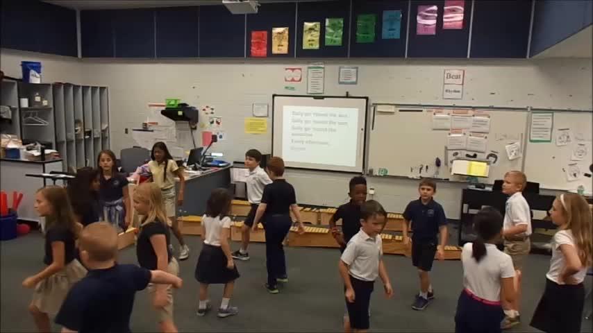 """17-18 Ms. Montigny's 3rd grade class """"Sally Go 'Round the Sun"""" canon"""