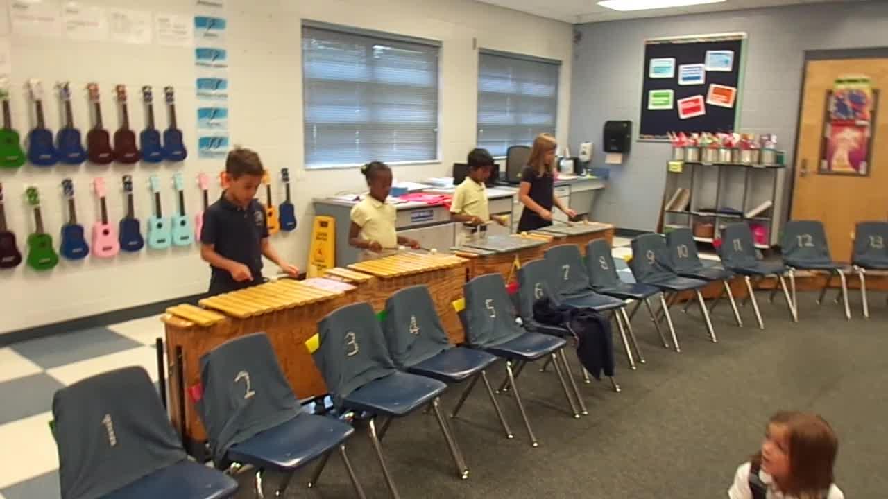 "17-18 Ms. Jesson's 1st grade class ""Engine, Engine No. 9"""