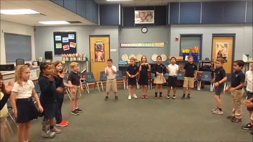 """17-18 Ms. Lewis' 2nd grade class """"Clap Your Hands"""" by Hiller/Dupont"""