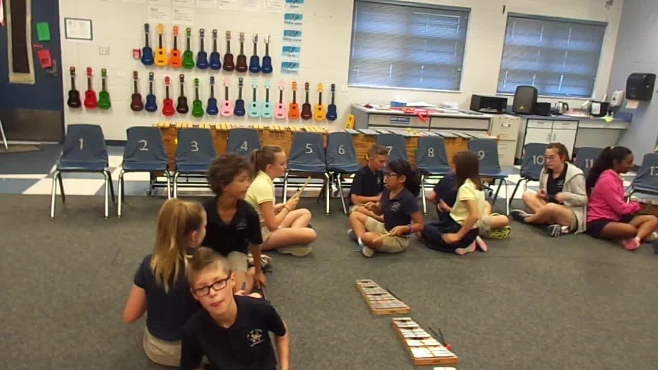 """17-18 Ms. Etts' 5th grade class """"Hot Lunch Jam"""" by Kriske/DeLelles"""