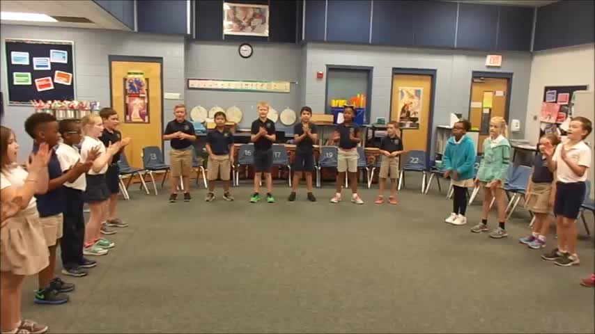 "17-18 Ms. Van Dursen's 2nd grade class ""Clap Your Hands"" by Hiller/Dupont"
