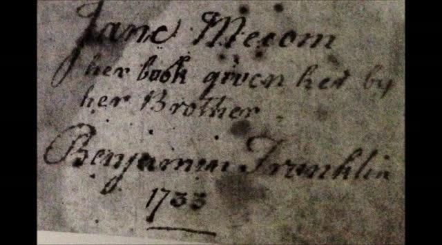 Jane Franklin: Sister of Benjamin Franklin