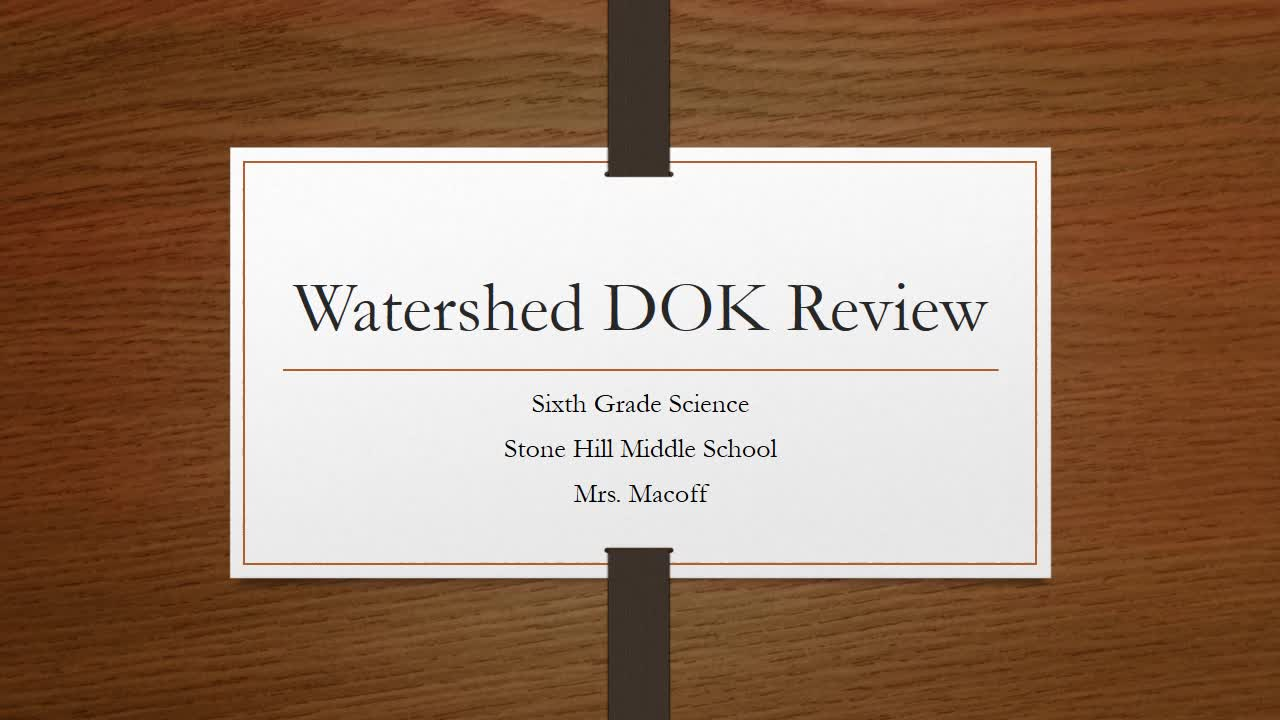 Watershed Unit Test Review