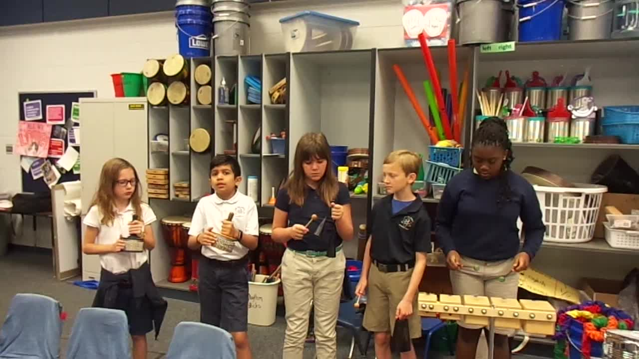 """17-18 Mr. Brook's 4th grade class """"Lost My Gold Ring"""" by Kriske/DeLelles"""
