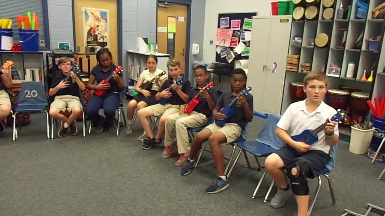 """17-18 Ms. Danley's 5th grade class """"When the Saints Go Marching in"""""""