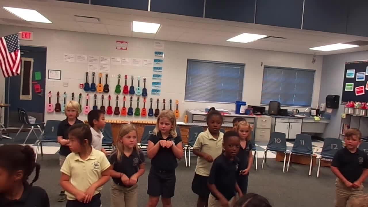 "17-18 Ms. Shepherd's Kindergarten Class ""Kangaroos"" from Carnival of the Animals"