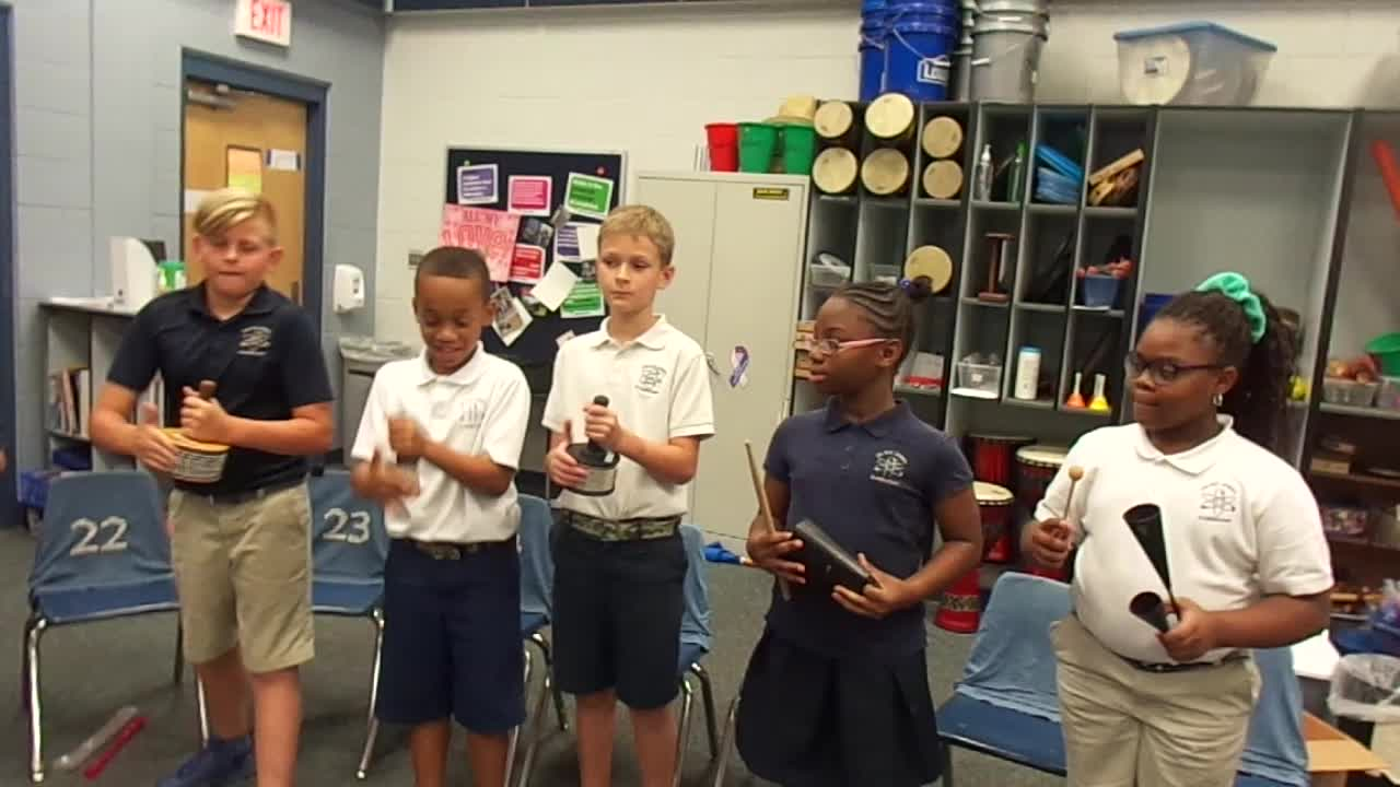"""17-18 Ms. Miller's 4th grade class """"Lost My Gold Ring"""""""