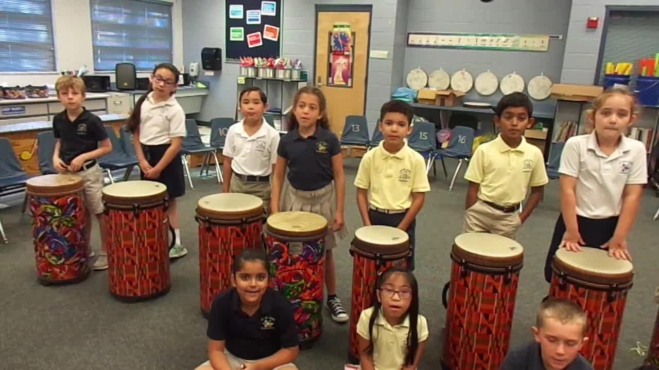 """17-18 Ms. Wiine's 2nd grade class """"Monkey Monkey Moo"""" by Jim Solomon"""