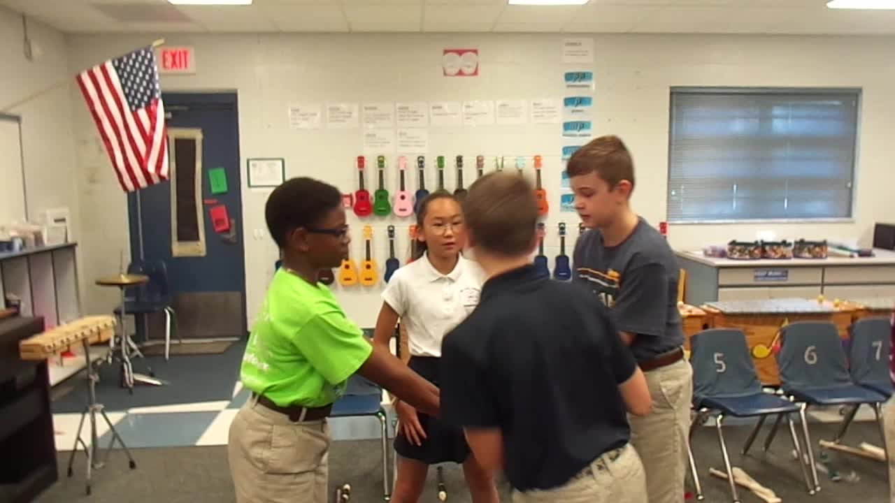 """17-18 Ms. Mickel's 4th grade class """"Four White Hourses"""""""
