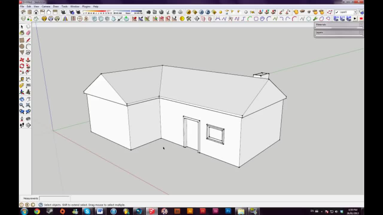 How to build a basic house using Sketch Up