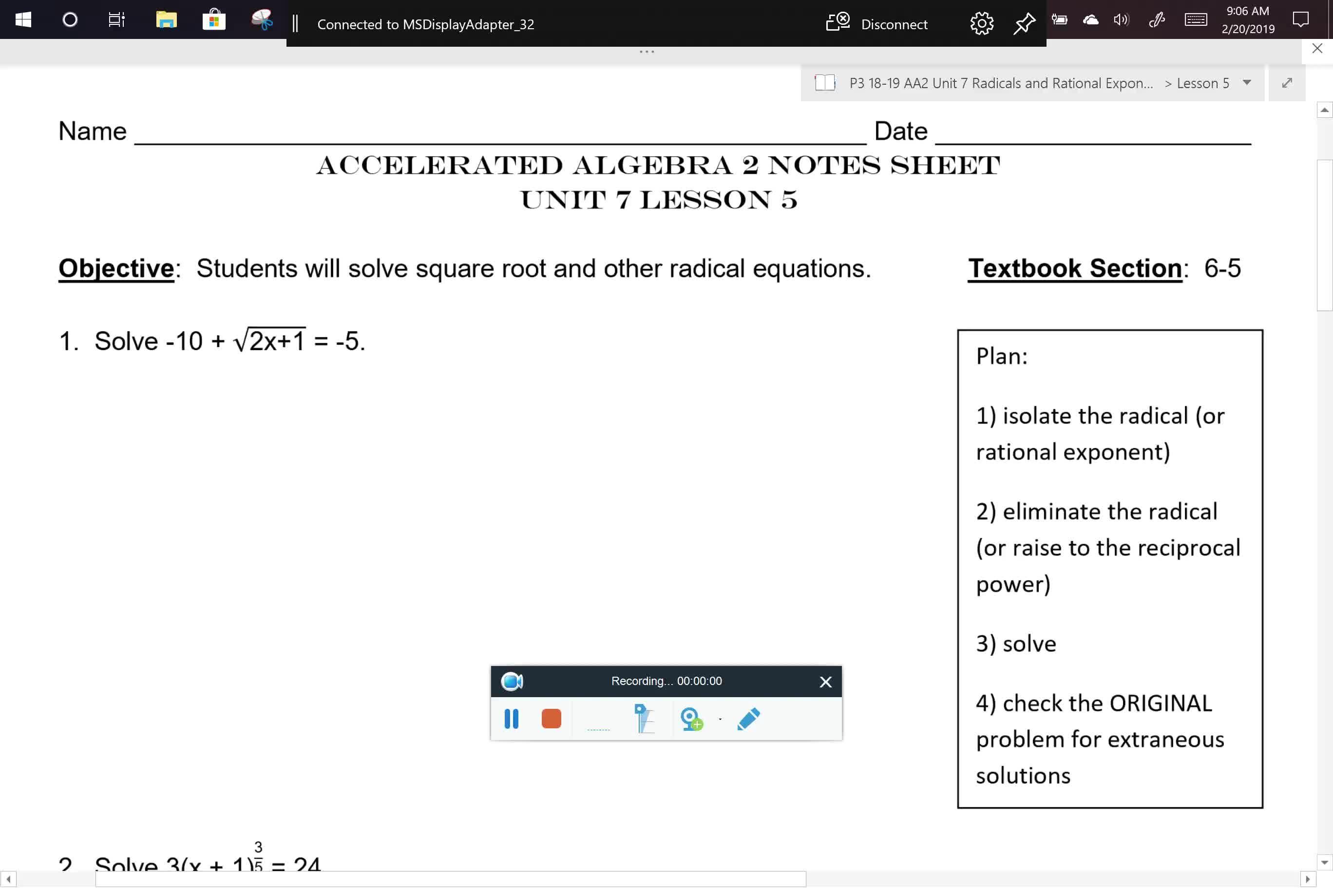 AA2 U7L5 Notes