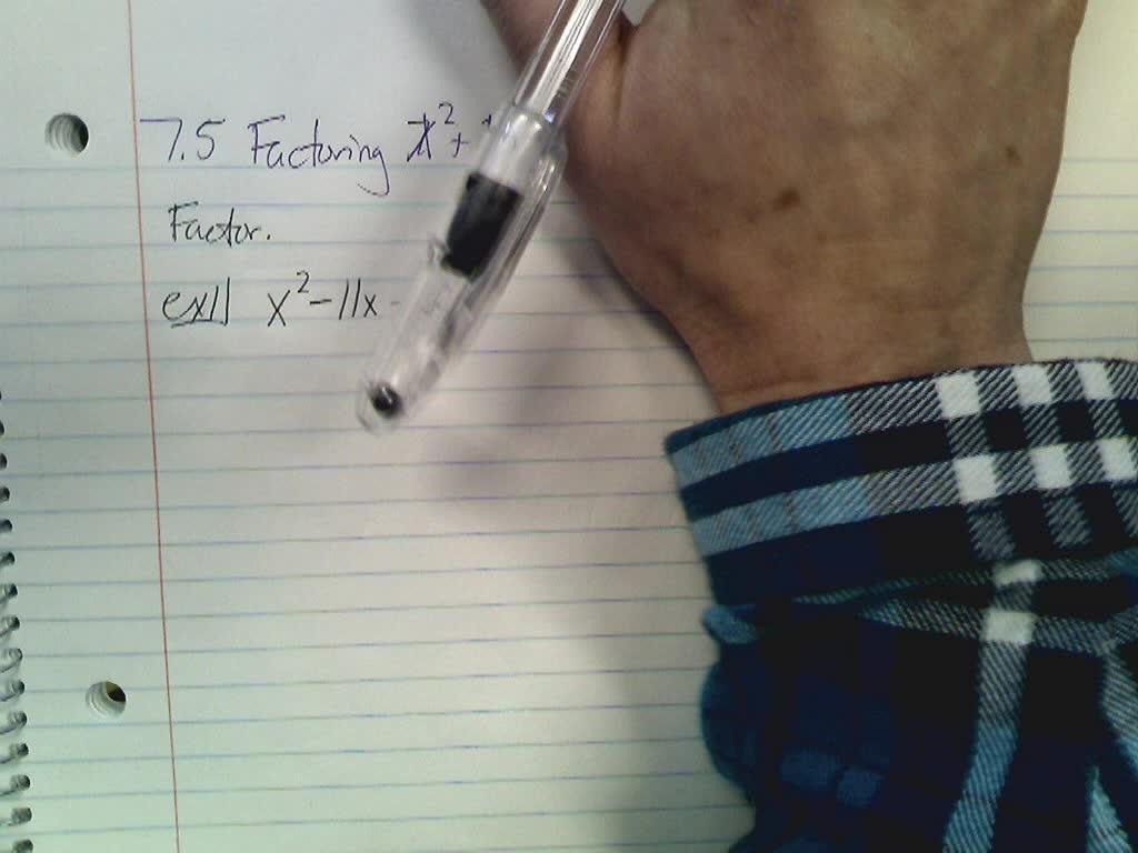 Algebra I 7.5 Notes
