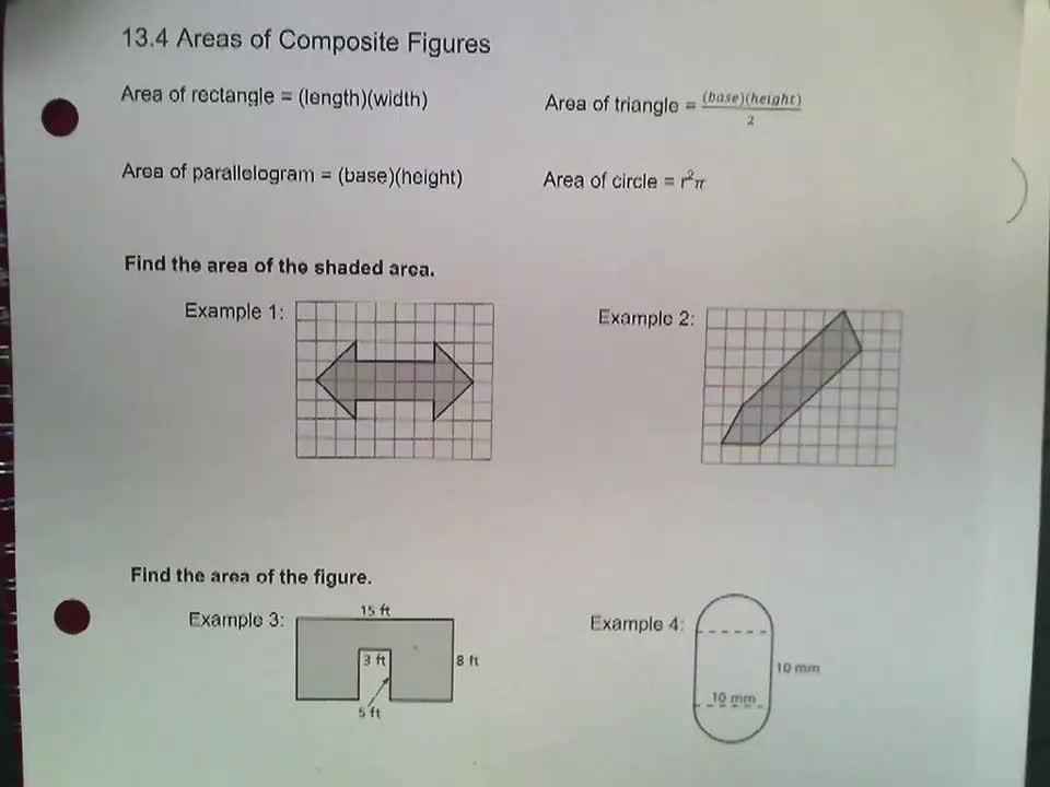Math 8 Notes 13.4