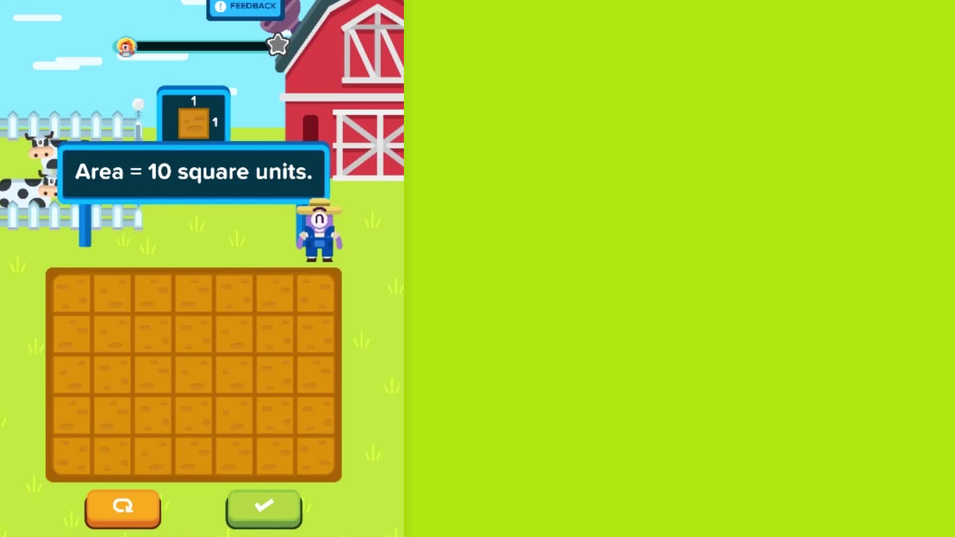 Fency farm level 1 - area and perimeter