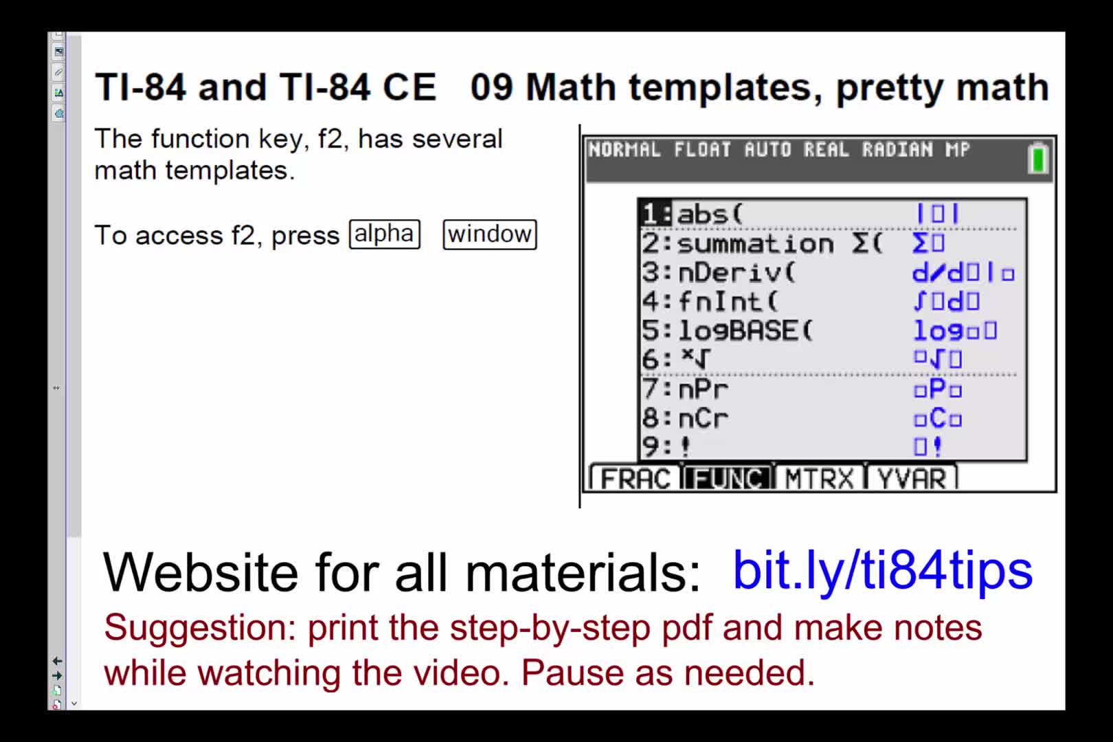 09_Math_Templates_Pretty_Math_TI84andTI84CE