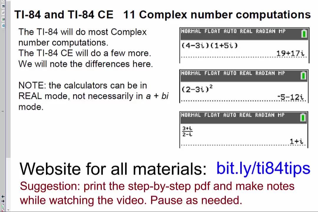 11_Complex_Number_Computations_TI84andTI84CE