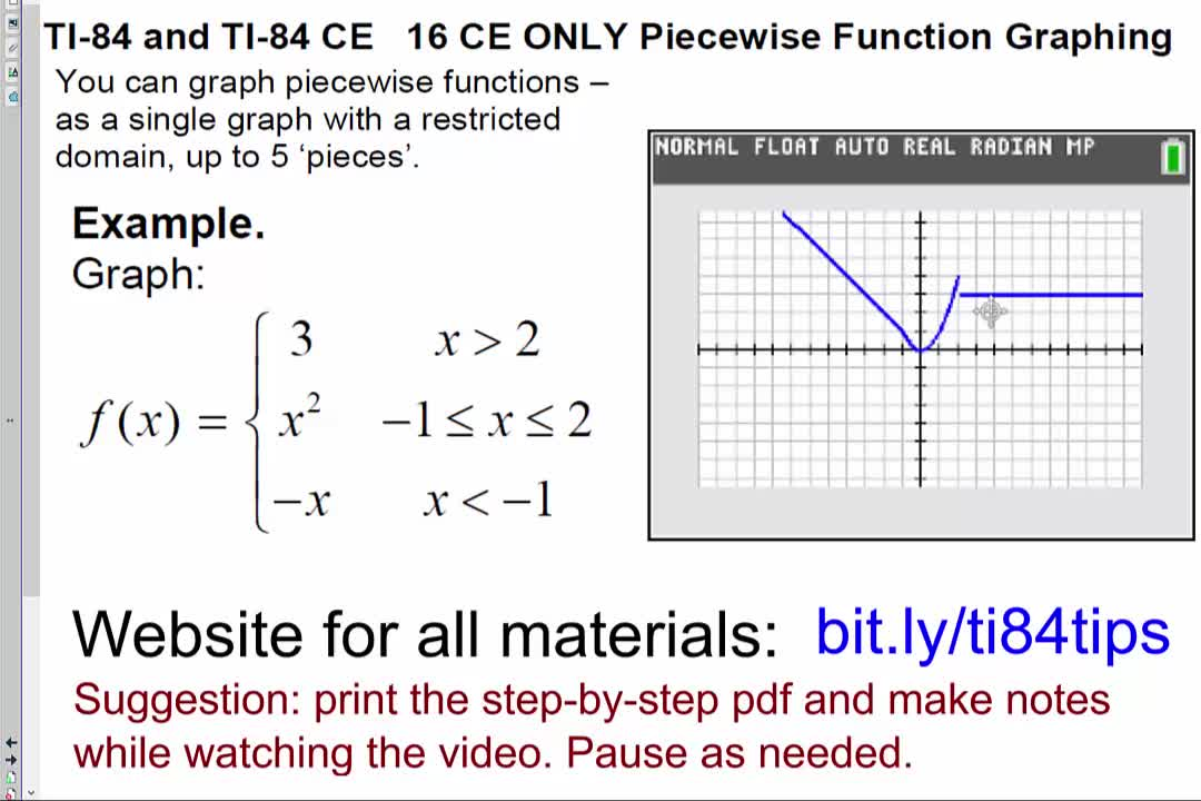 16_CE_Only_Piecewise_Function_Graphing_TI84CE
