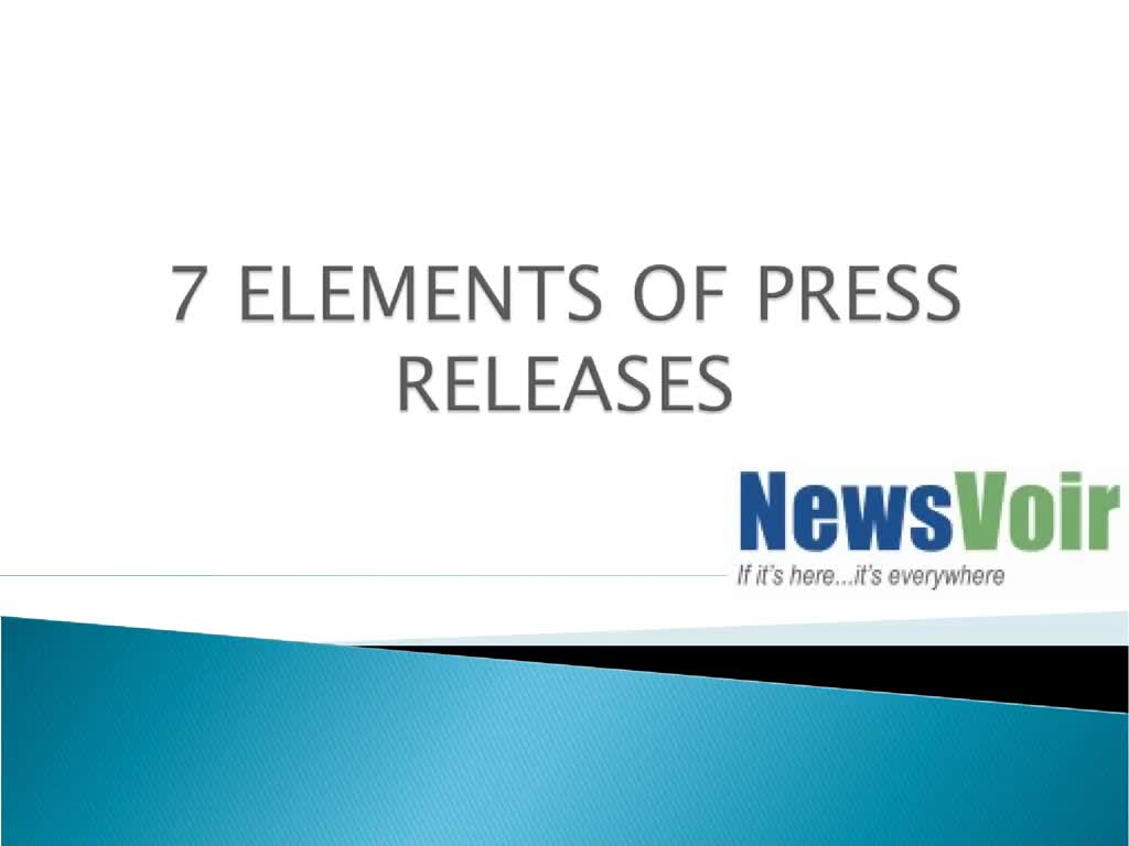 7 ELEMENTS OF PRESS RELEASES