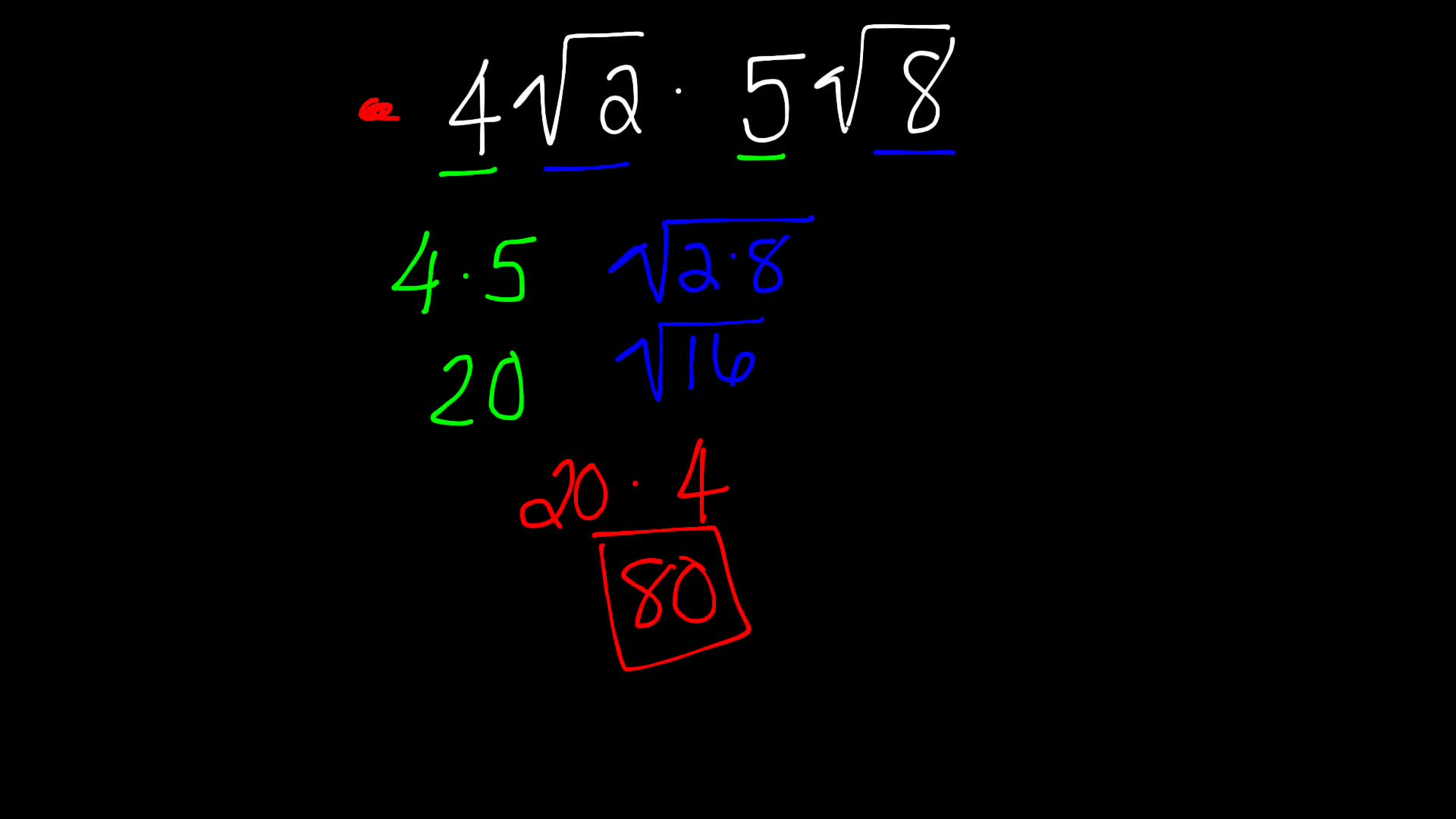 Multiplication and  Division Properties of Square Roots