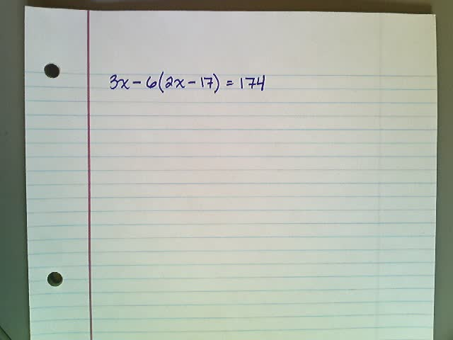 Multi-Step Equations Example 2