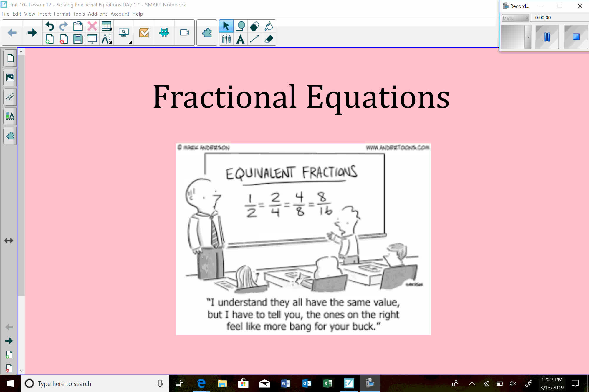 Unit 10 - Lesson 12 - Solving Fractional Equations