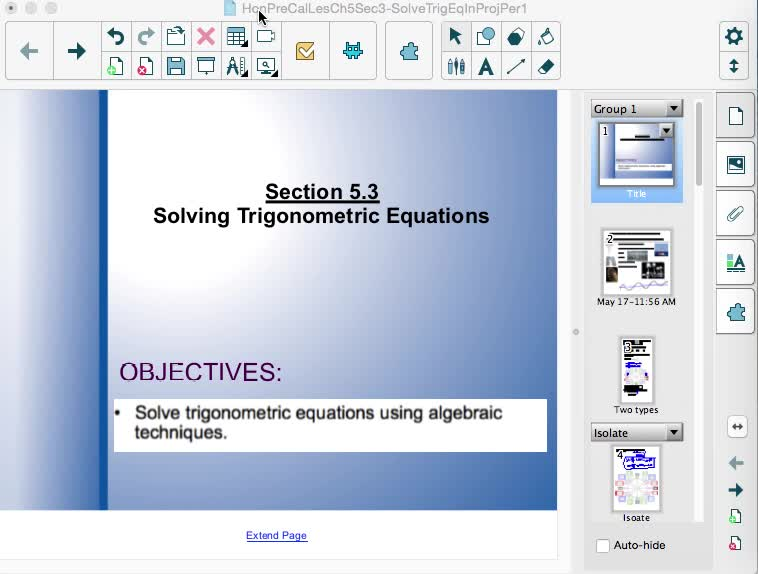 Section 5.3: Solving Trig Equations