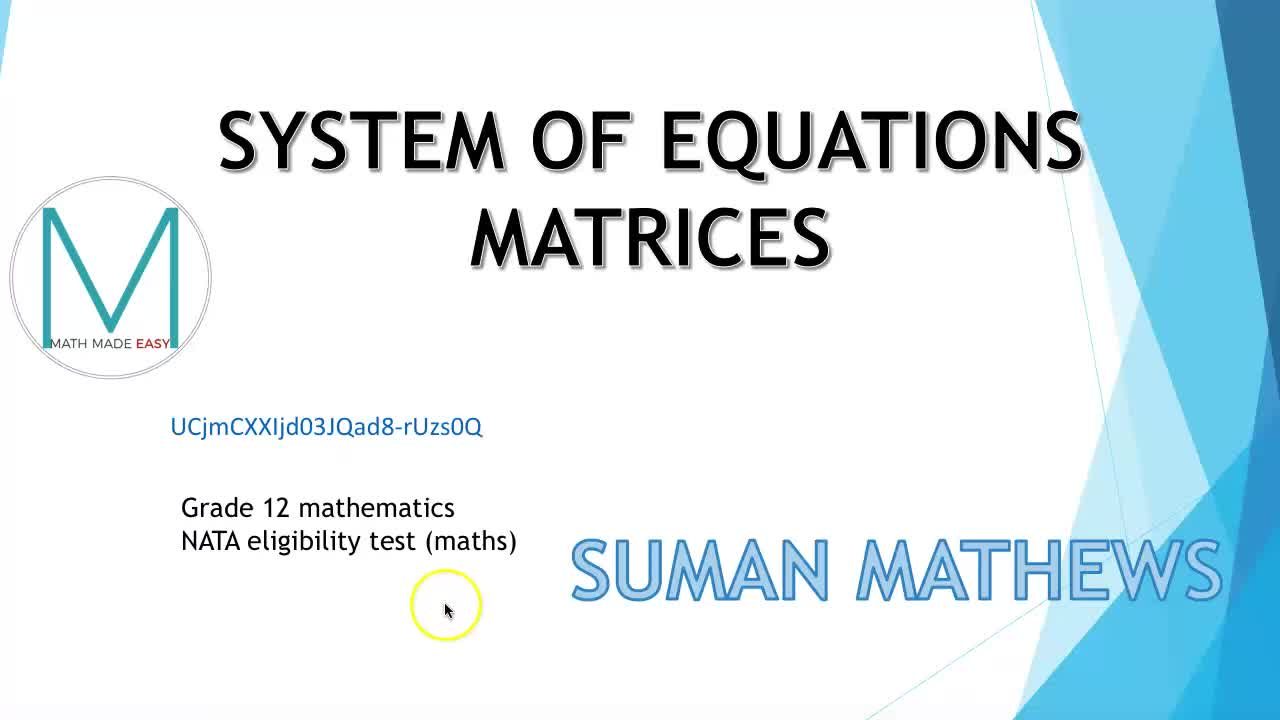 System of equations- (matrices)