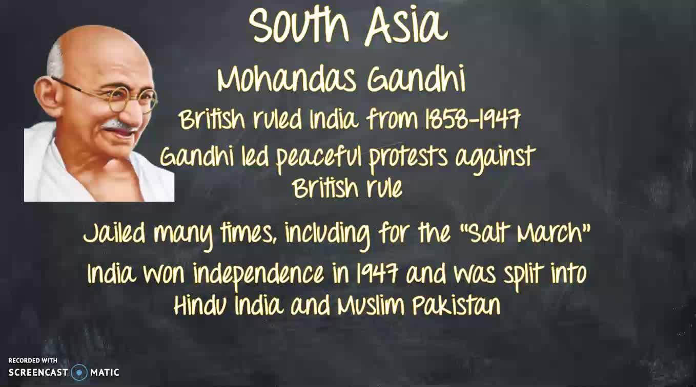 MBeran Malala and Gandhi