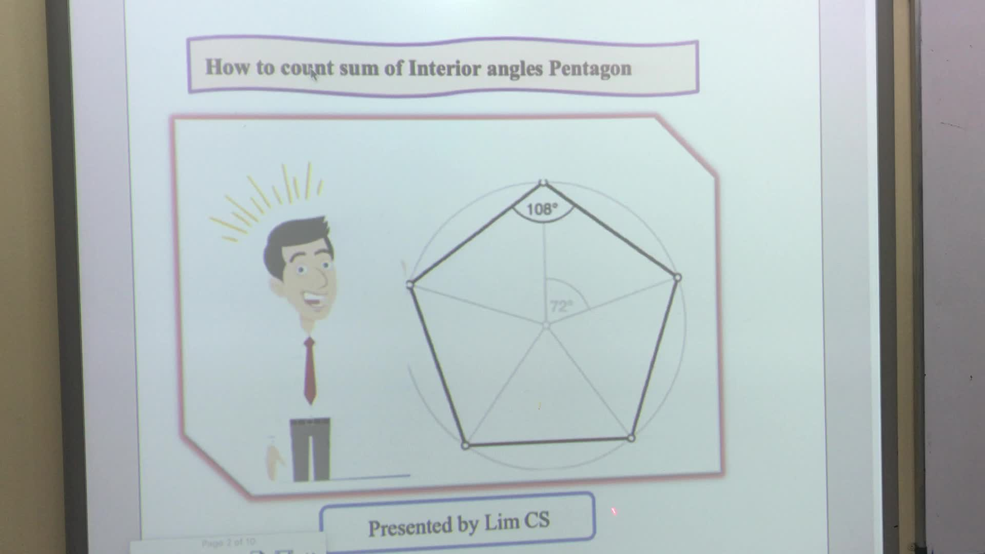 Sum of interior angle Pentagon