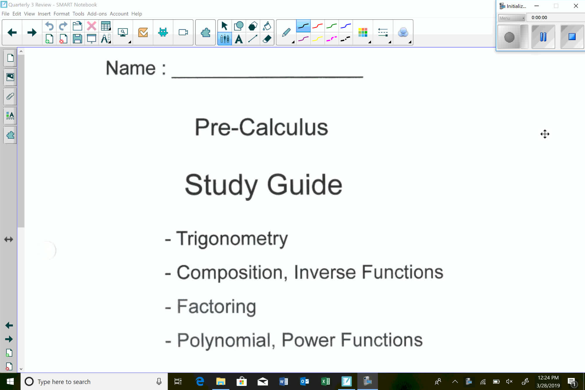 Pre-Calc Quarterly 3 Review
