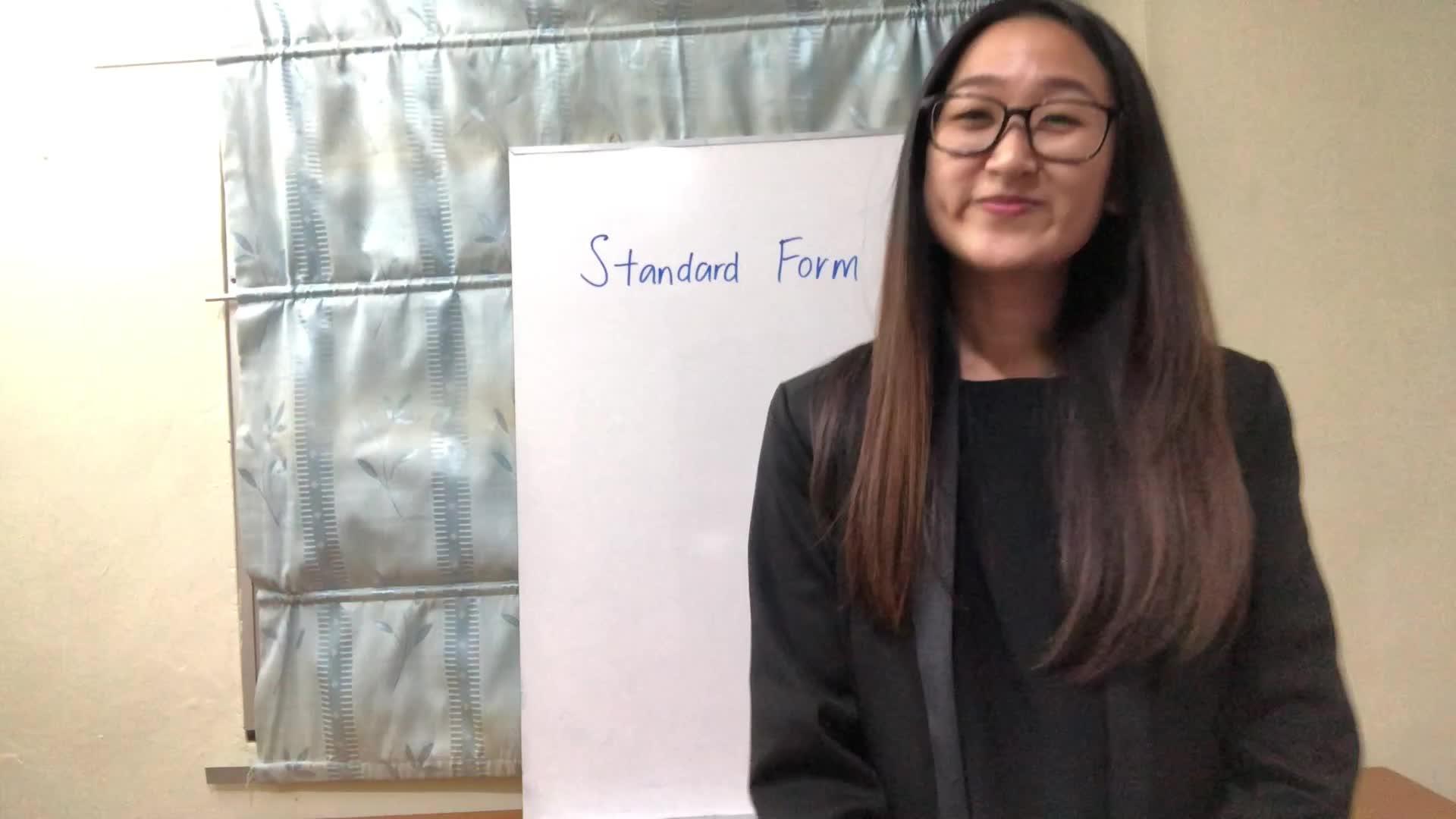 Understanding Standard Form