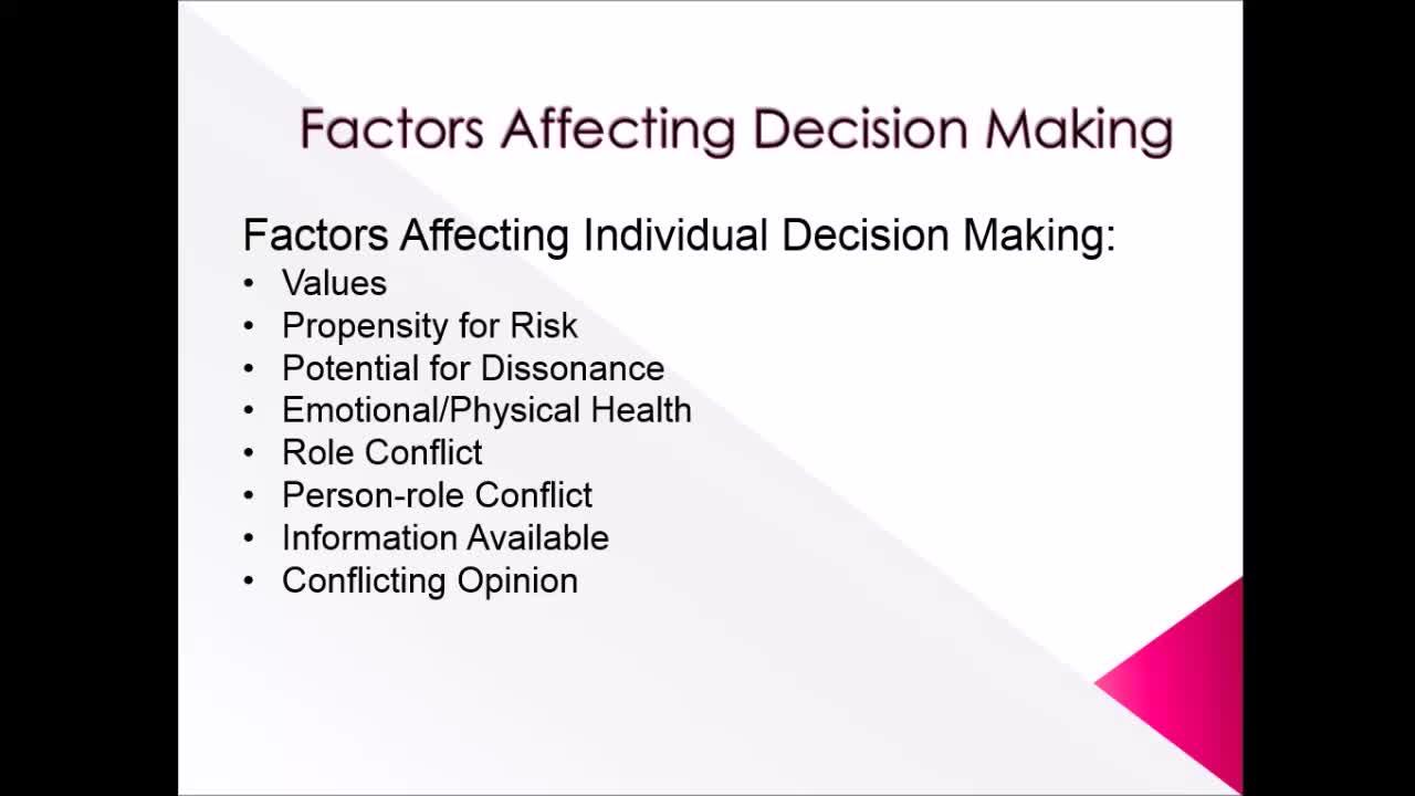 Factor affecting problem solving