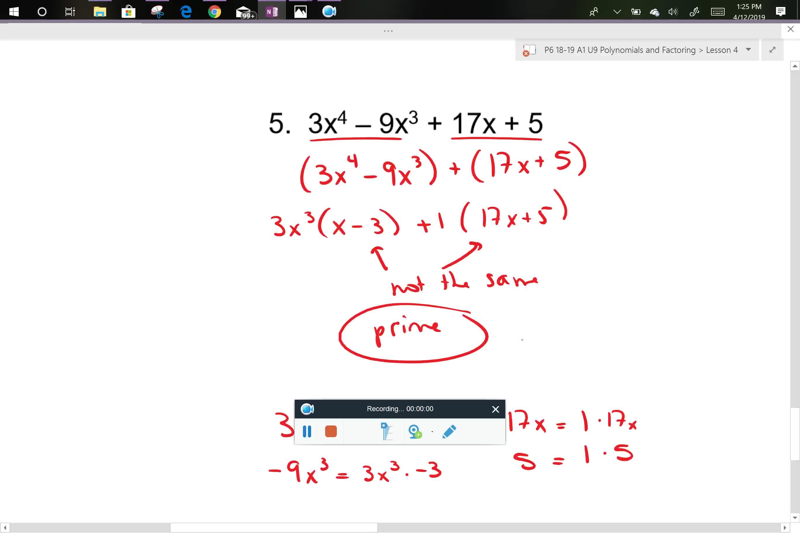 A1 U9L4 problem 5
