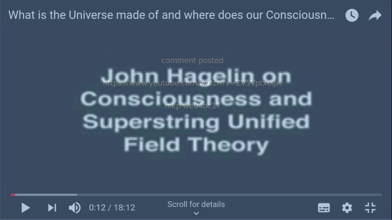 milcoms 5 yt What is the Universe made of and where does our Consciousness come from?