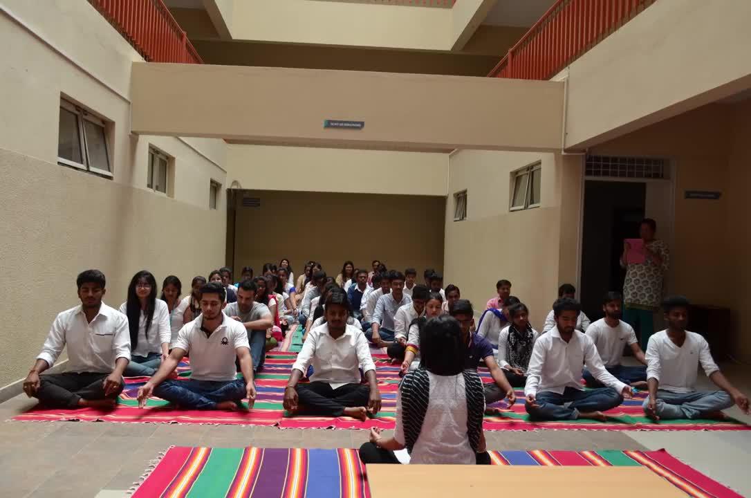 International Yoga Day at CMR University