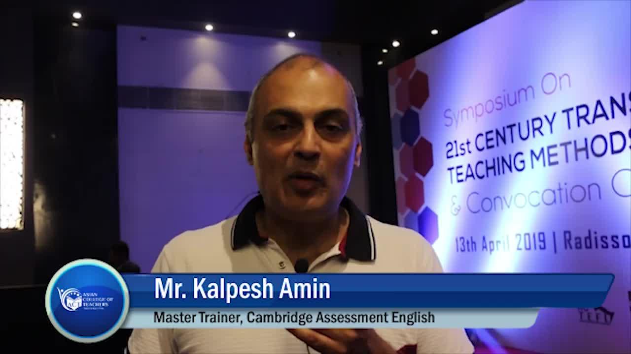 Mr Kalpesh Amin, Master Trainer, Cambridge Assessment English