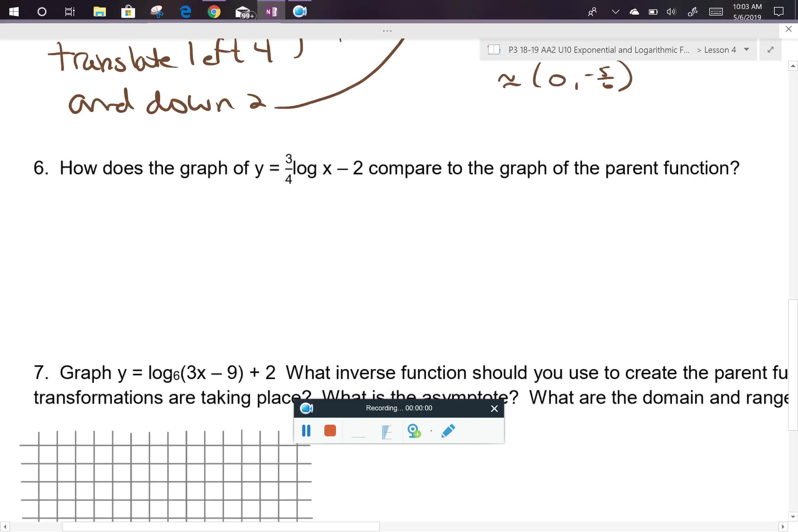 AA2 U10L4 class notes problems 6 and 7