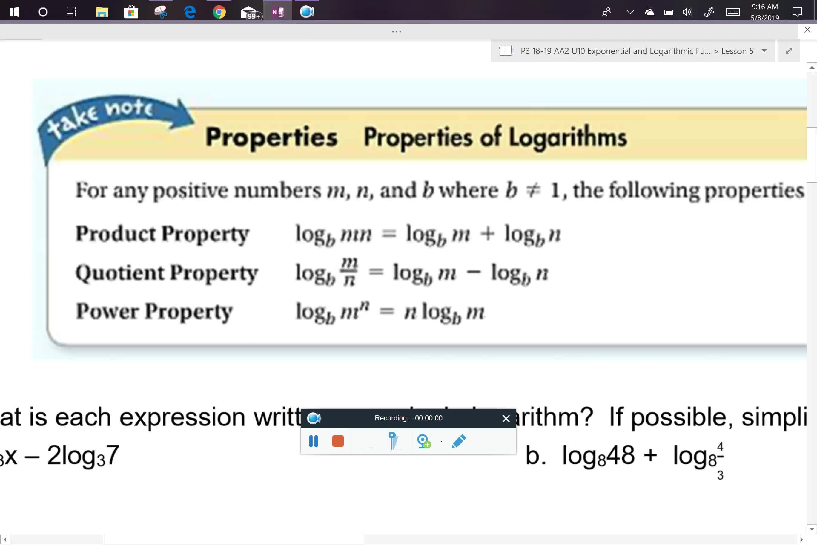 AA2 U10L5 problems 1 and 2