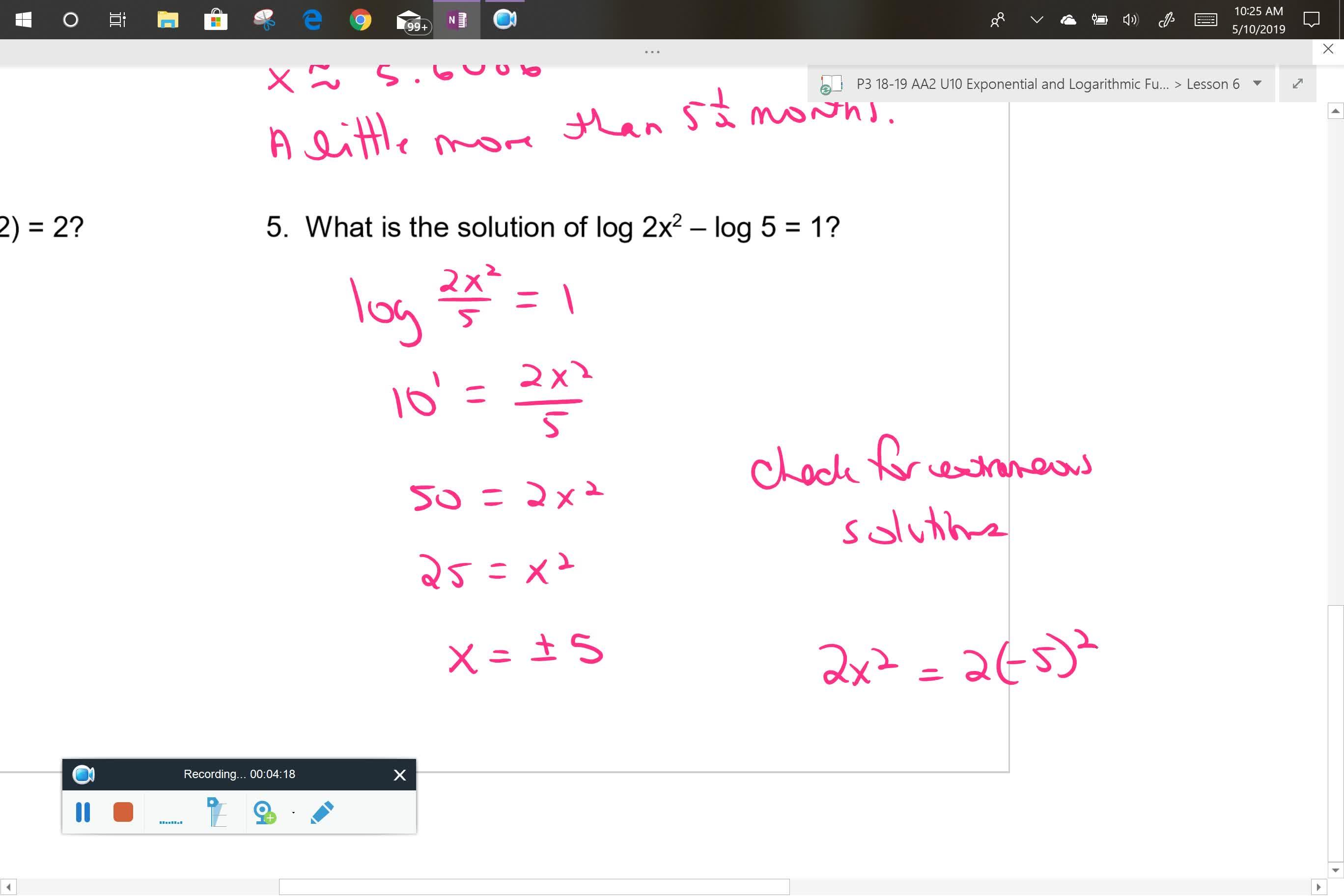 AA2 U10L6 problems 4 and 5