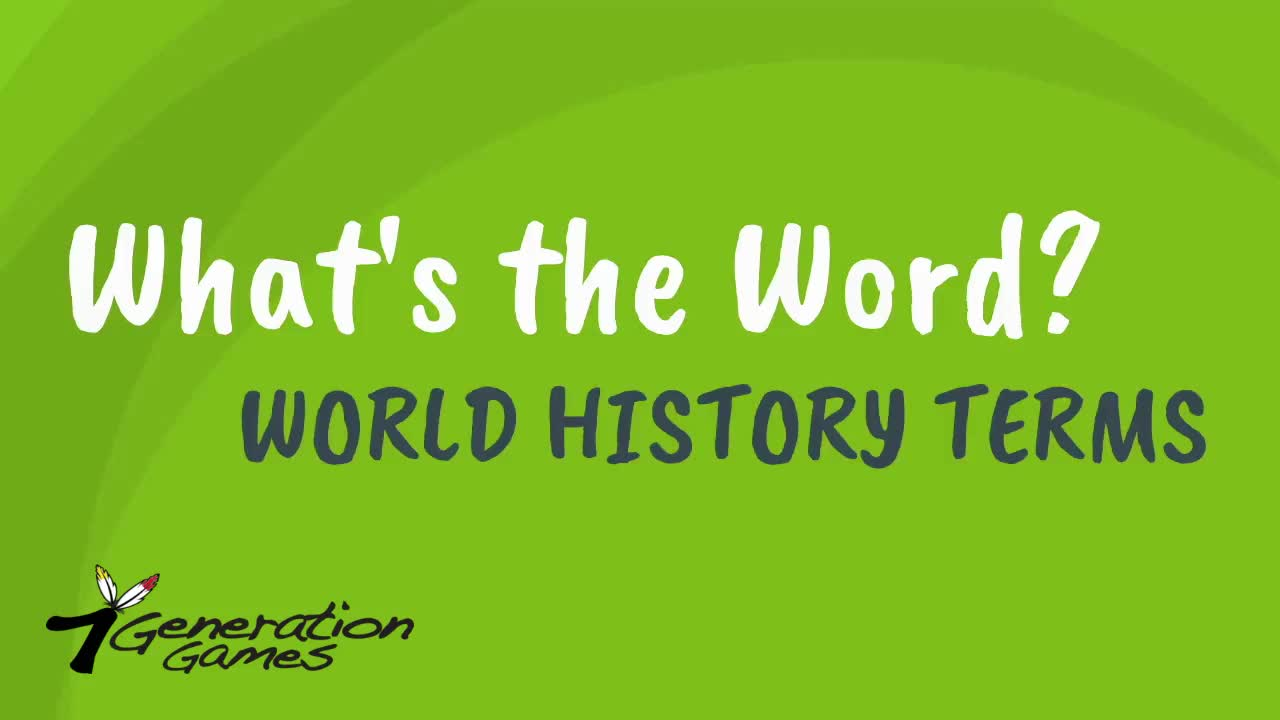 What's the Word Wold History Terms