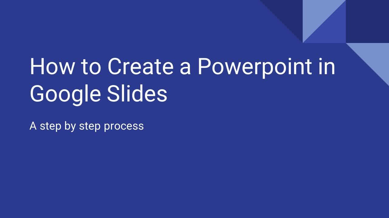 How to Make a Google Slide Show